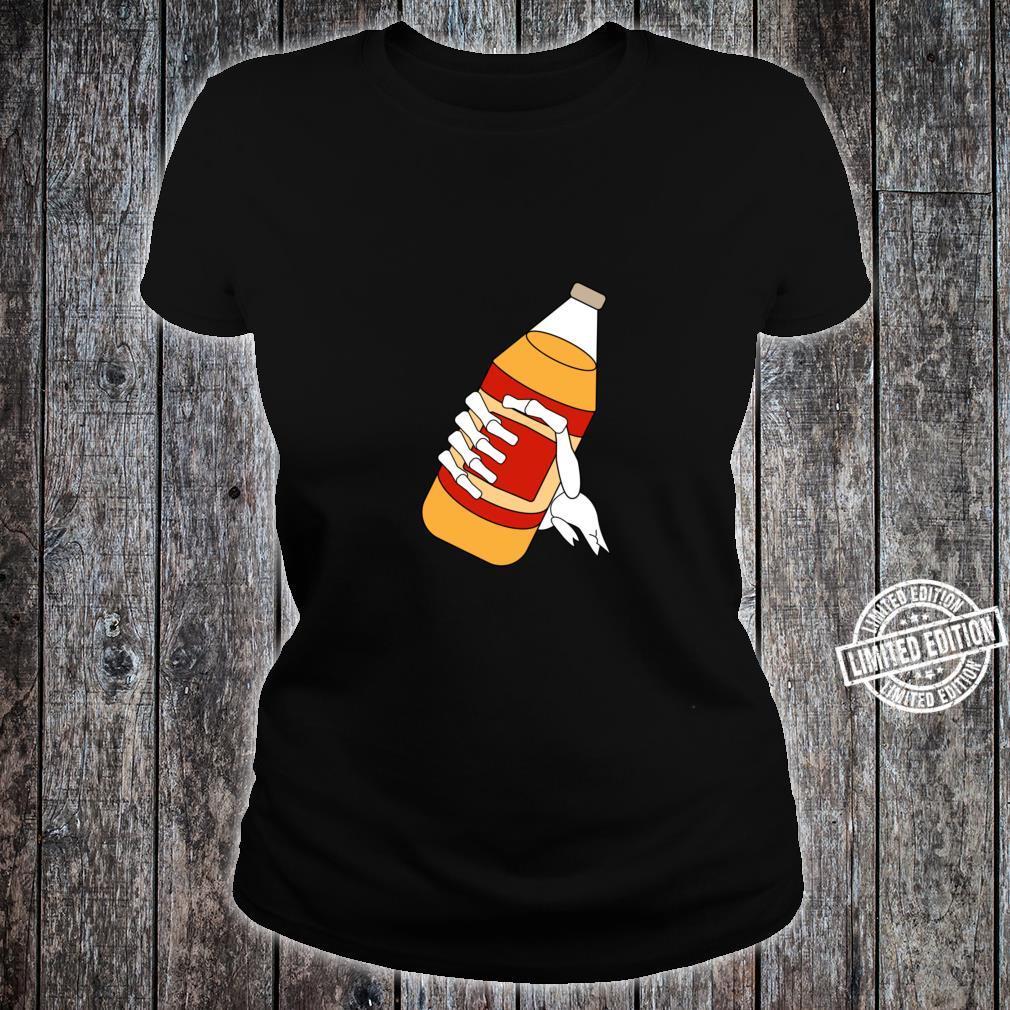 40 Oz Malt Liquor Skeleton Shirt ladies tee