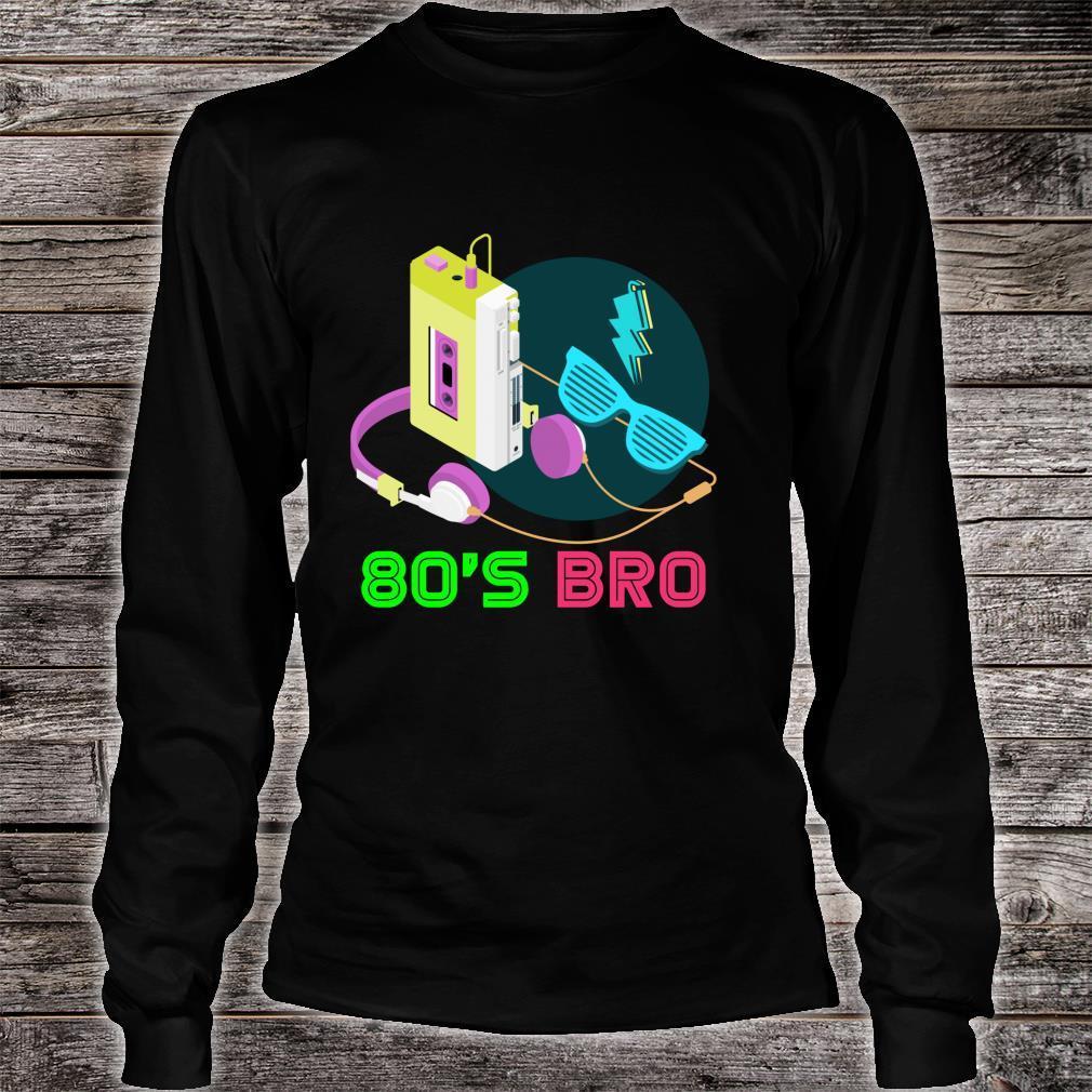 80s Bro Eighties Party Retro 80s Art Cassette Music 80s Shirt long sleeved