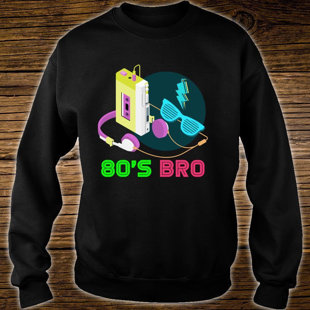 80s Bro Eighties Party Retro 80s Art Cassette Music 80s Shirt sweater