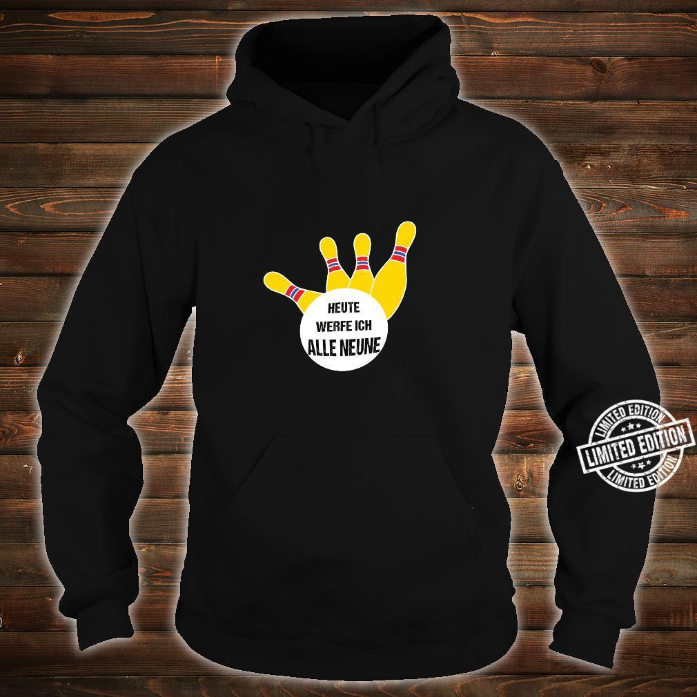 Alle Neune lustiges Kegel Shirt hoodie