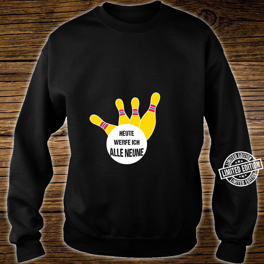 Alle Neune lustiges Kegel Shirt sweater