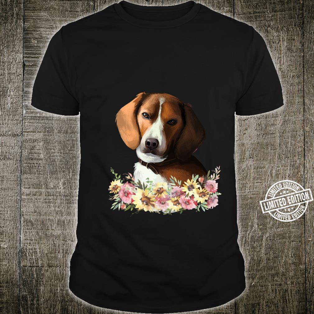 American Foxhound Dog Floral Shirt