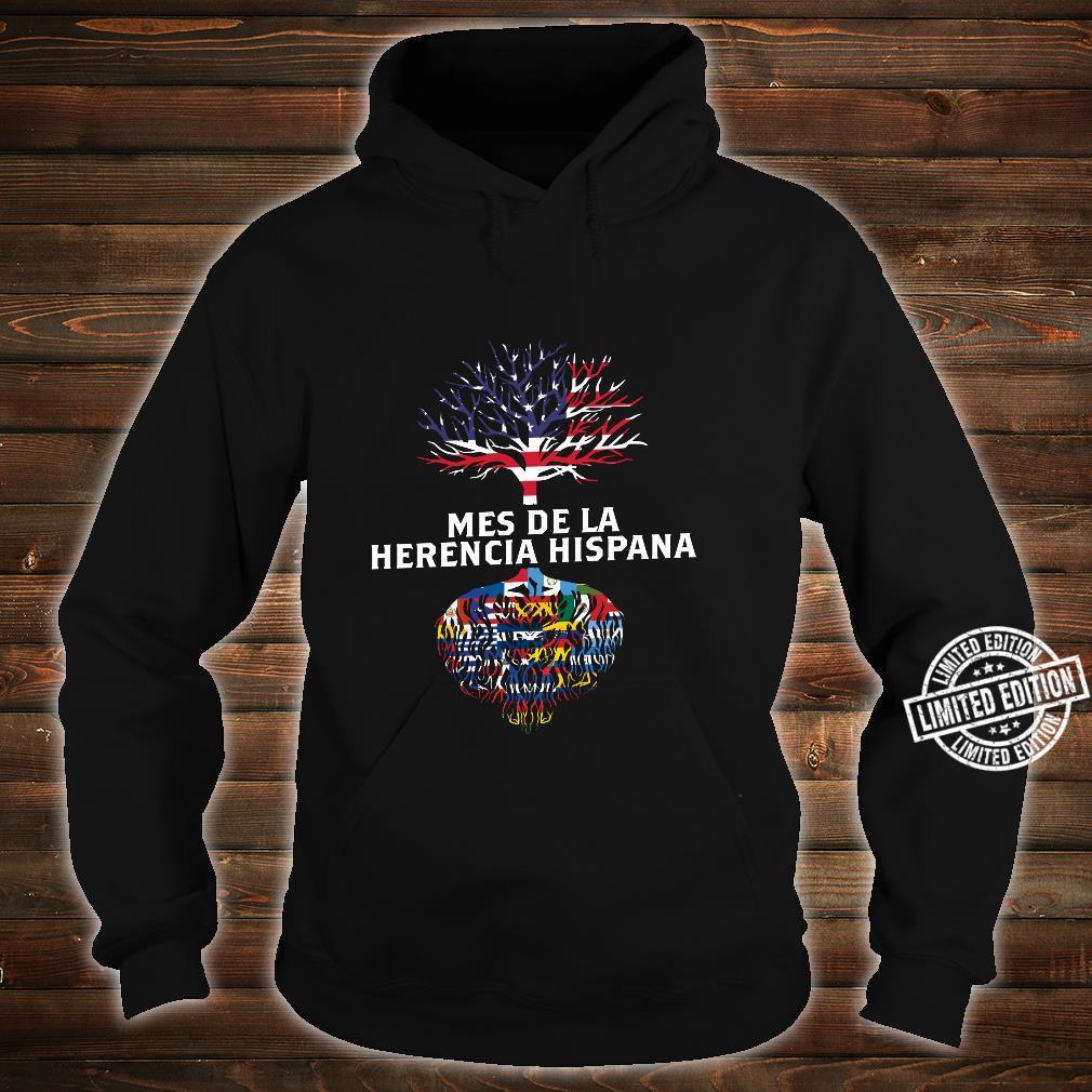 Amerikanische Flagge Baum Wurzeln Mes De La Herencia Hispana Shirt hoodie
