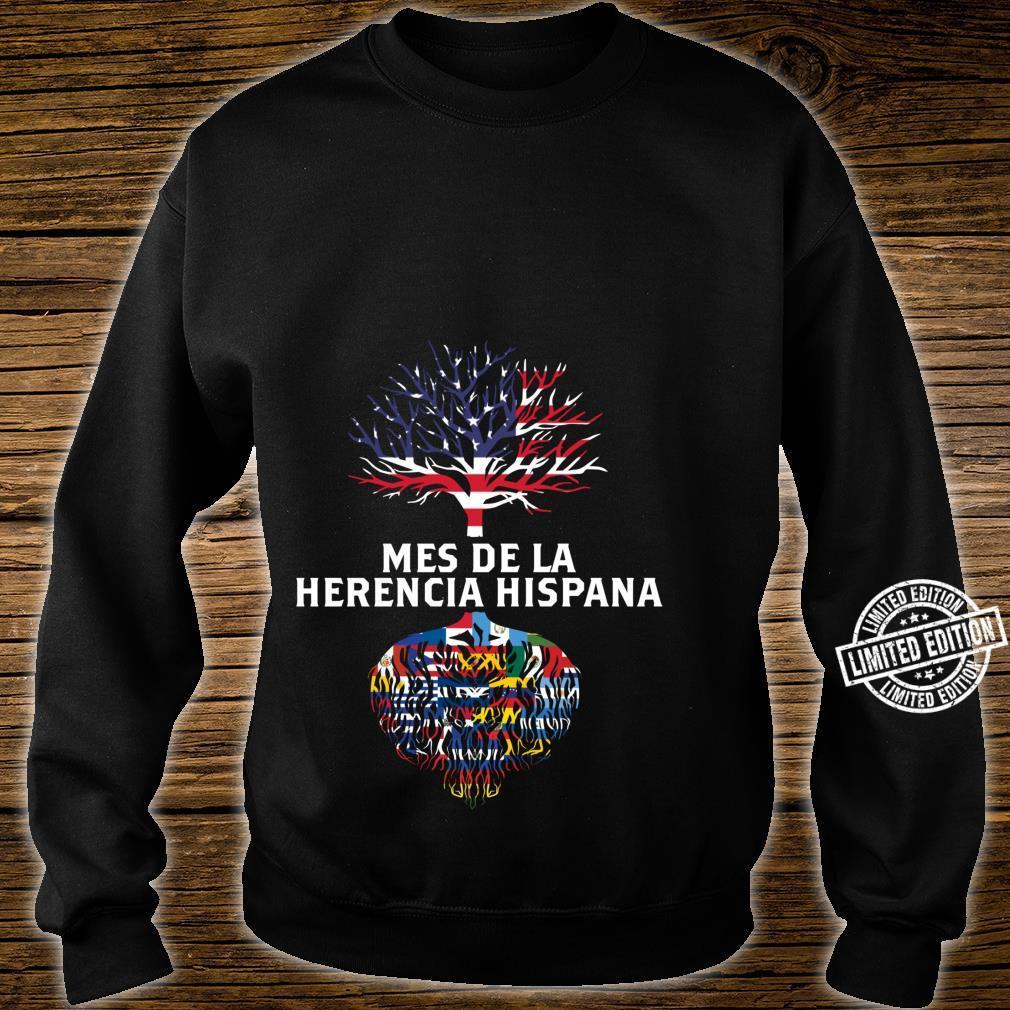 Amerikanische Flagge Baum Wurzeln Mes De La Herencia Hispana Shirt sweater