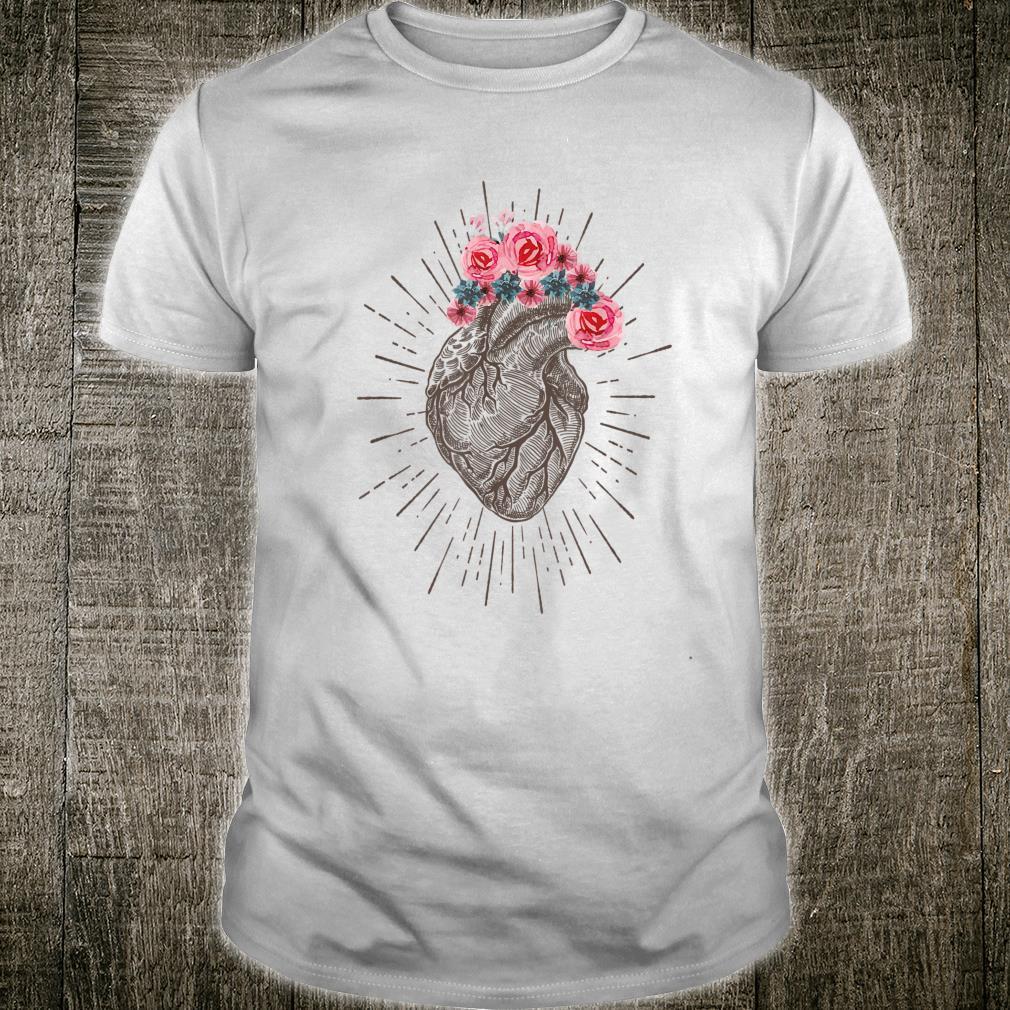 Anatomical Heart Retro Human heart for Cardiologists Shirt