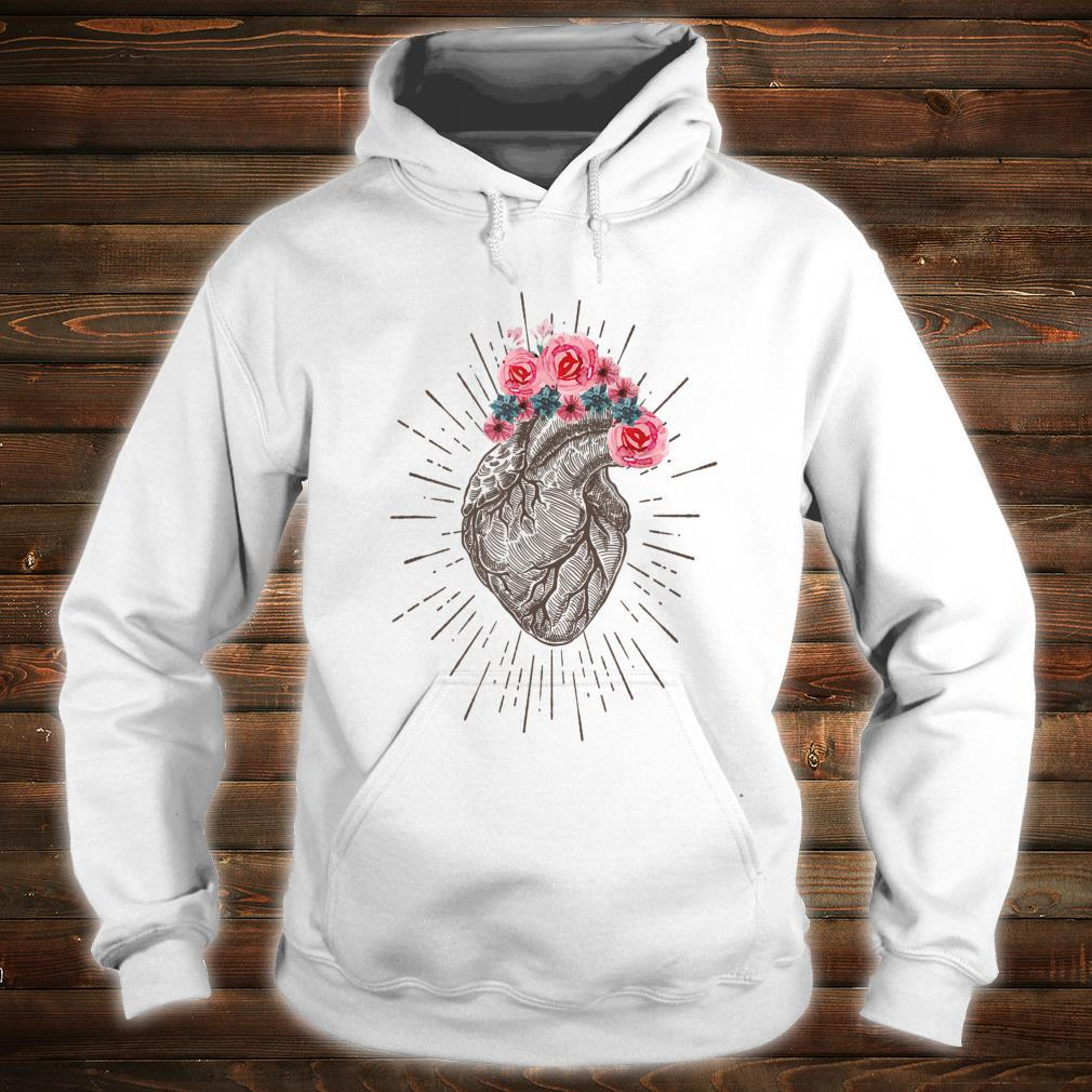 Anatomical Heart Retro Human heart for Cardiologists Shirt hoodie