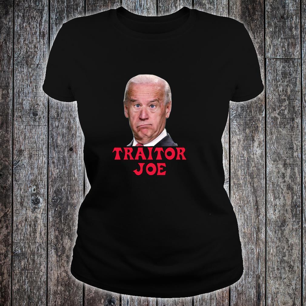 Anti Biden AntiBiden Pro Trump 2024 ProTrump Traitor Joe Shirt ladies tee