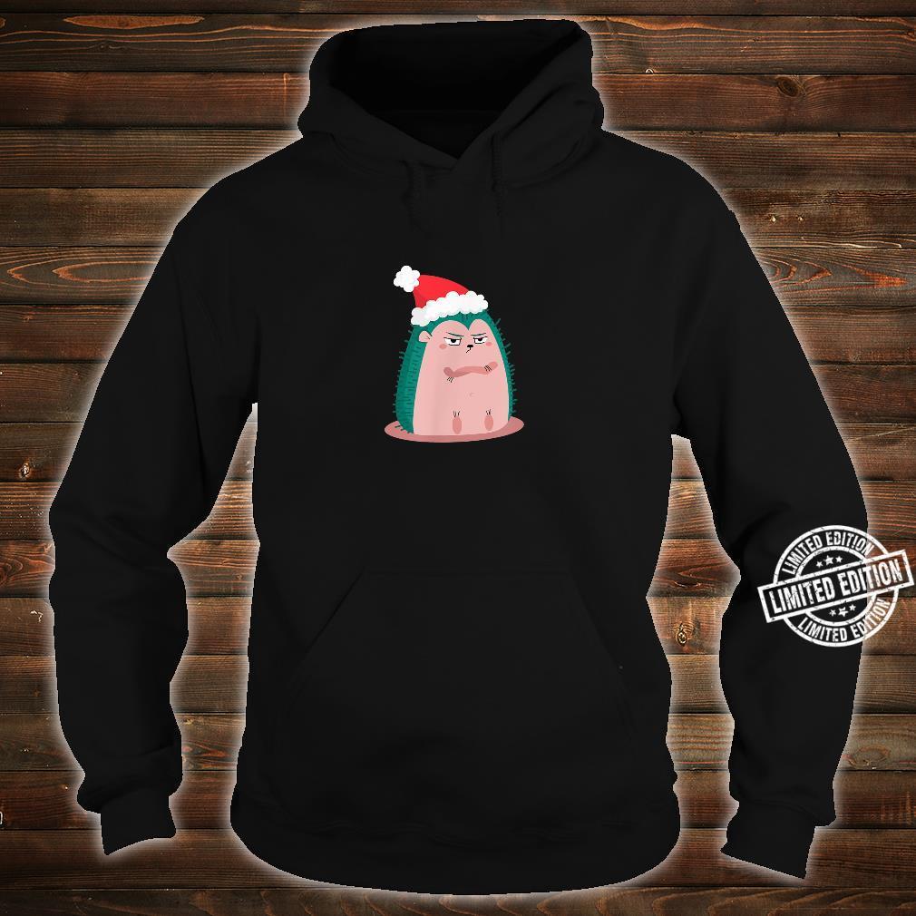 Anti Christmas Angry Hedgehog Shirt hoodie