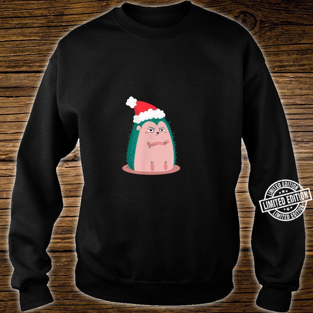 Anti Christmas Angry Hedgehog Shirt sweater
