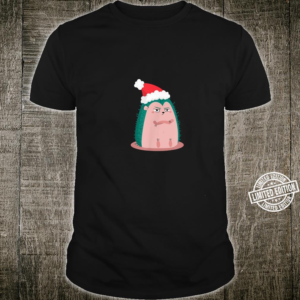 Anti Christmas Angry Hedgehog Shirt