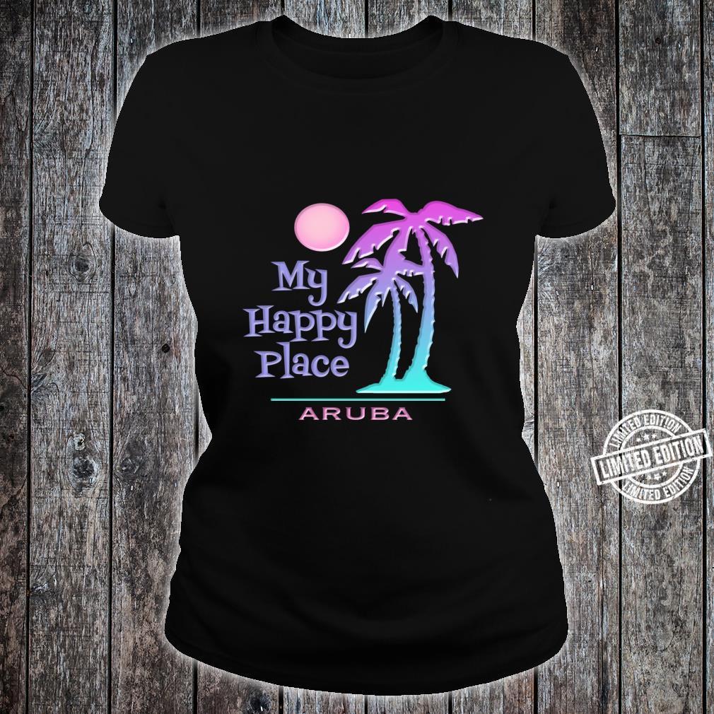 Aruba Souvenir Palme Happy Beach Sun Shirt ladies tee