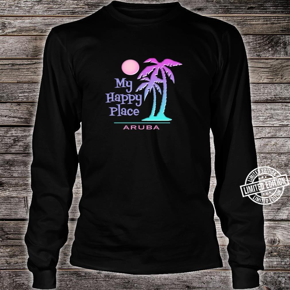 Aruba Souvenir Palme Happy Beach Sun Shirt long sleeved
