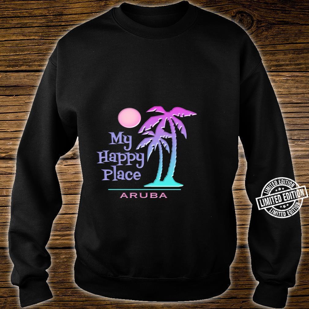 Aruba Souvenir Palme Happy Beach Sun Shirt sweater
