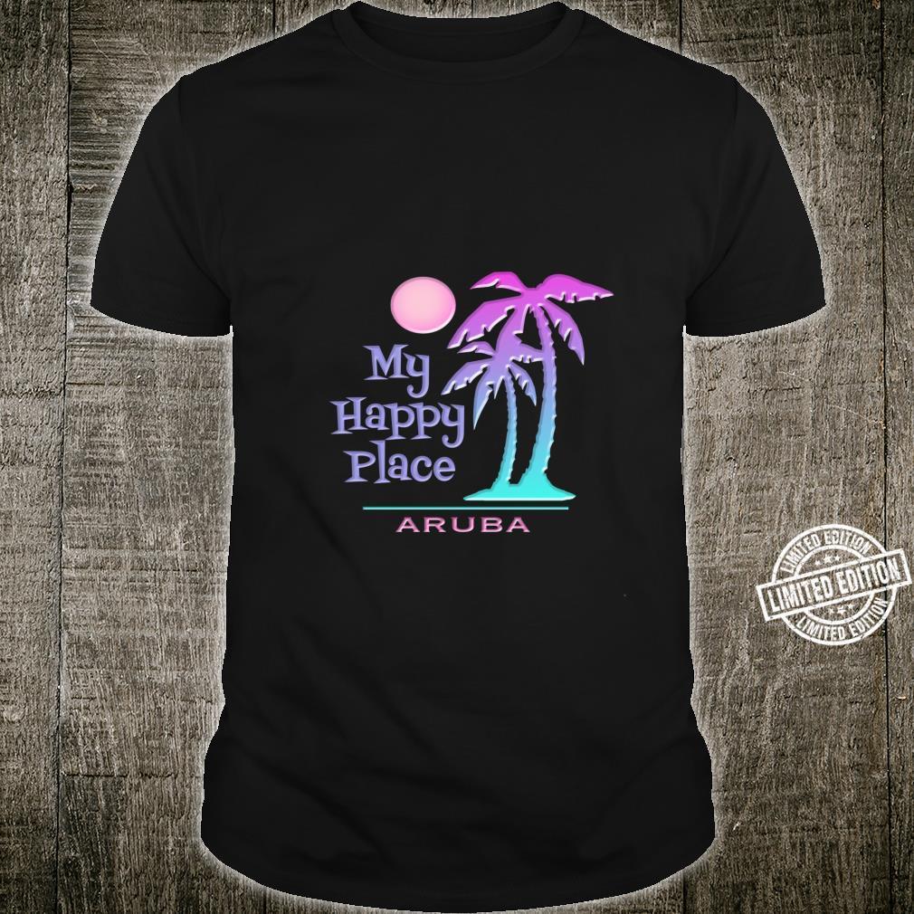 Aruba Souvenir Palme Happy Beach Sun Shirt