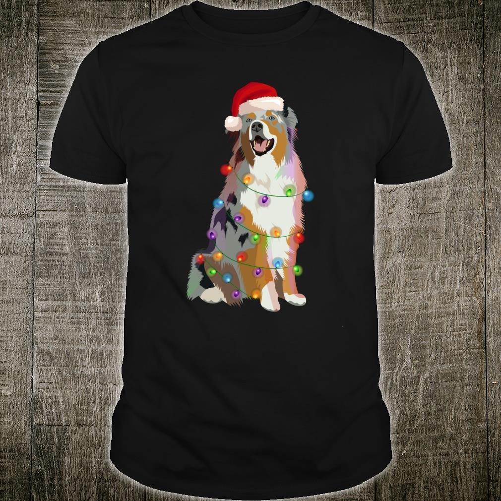 Australian Shepherd Aussi Weihnachtsbeleuchtung für Hundeliebhaber Shirt