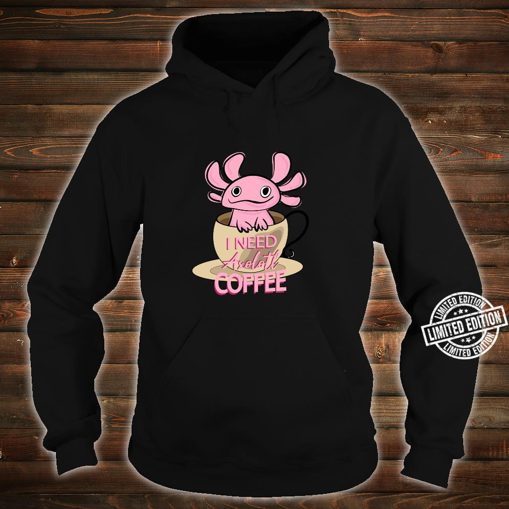 Axolotl Ambystoma Mexicanum Amphibien Lustig Shirt hoodie