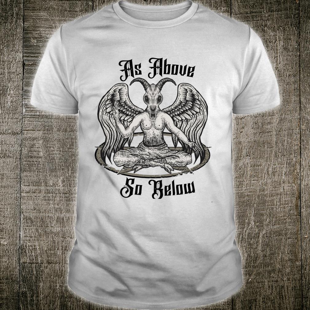 Baphomet Clothing As Above So Below Anti Christ Shirt