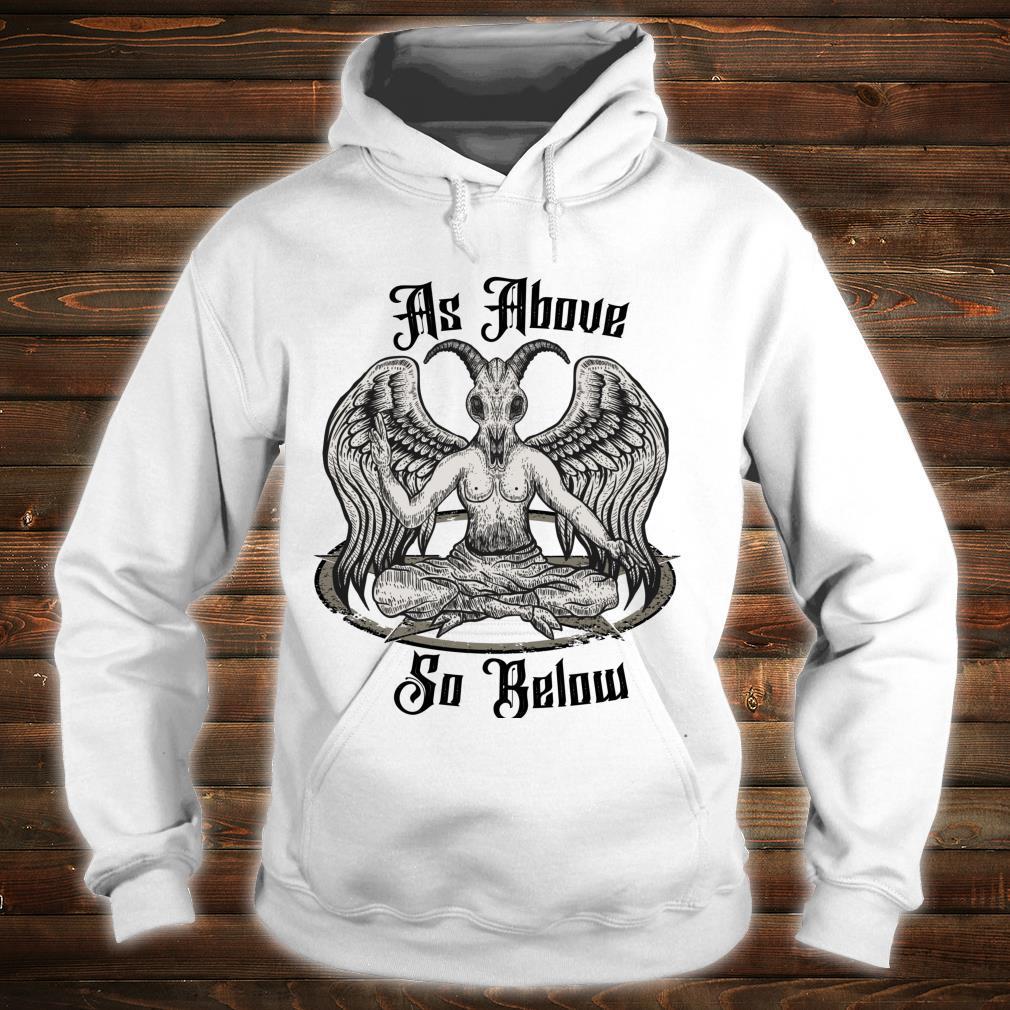 Baphomet Clothing As Above So Below Anti Christ Shirt hoodie