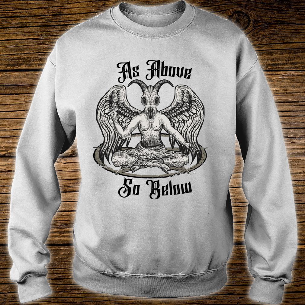 Baphomet Clothing As Above So Below Anti Christ Shirt sweater