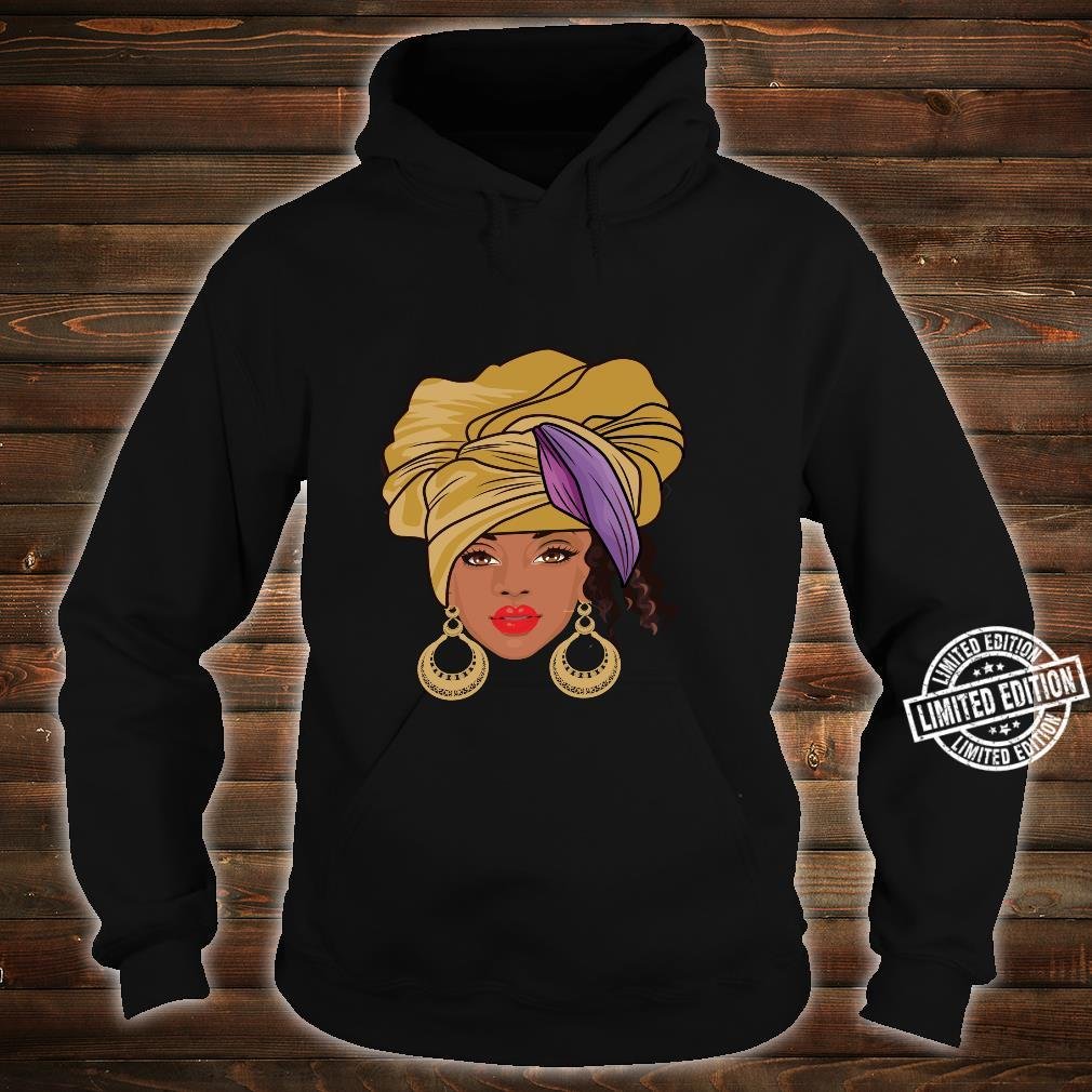 Black History Month Afroamerikanische Bekleidung AfroHaargesicht Shirt hoodie