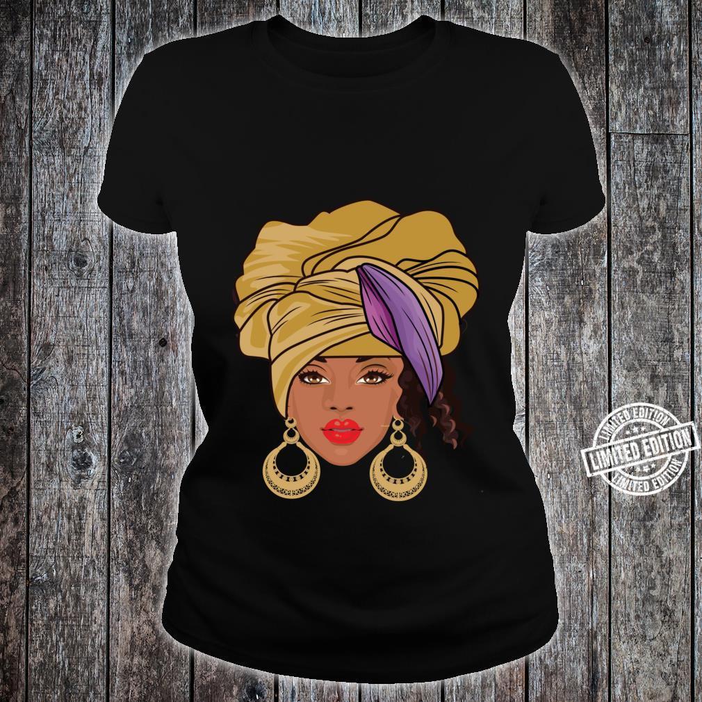 Black History Month Afroamerikanische Bekleidung AfroHaargesicht Shirt ladies tee