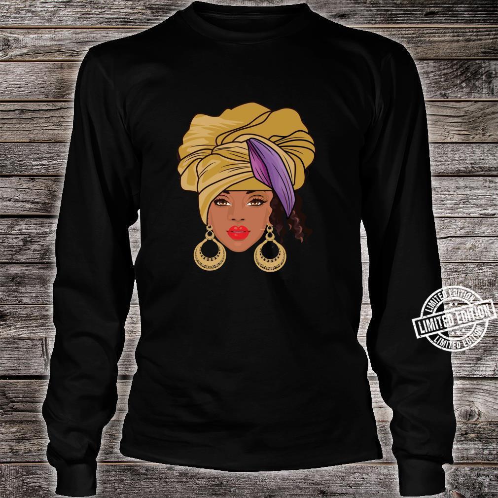 Black History Month Afroamerikanische Bekleidung AfroHaargesicht Shirt long sleeved