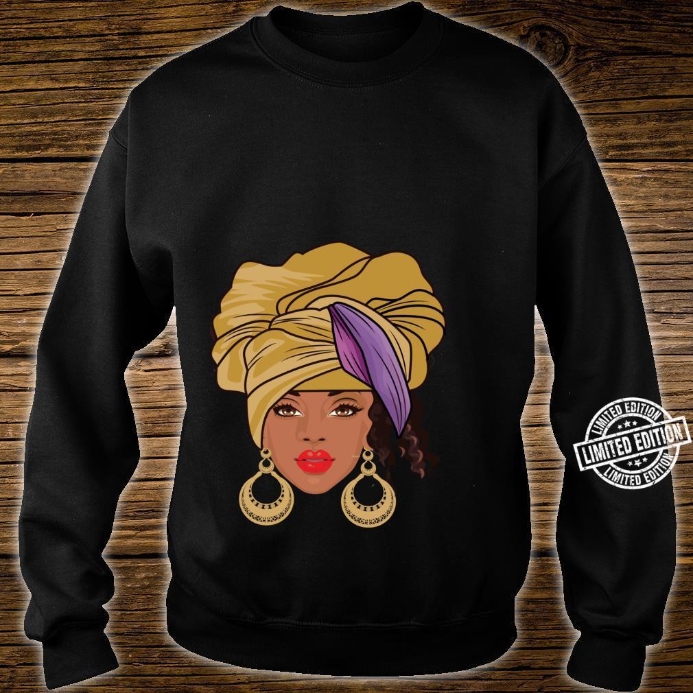 Black History Month Afroamerikanische Bekleidung AfroHaargesicht Shirt sweater
