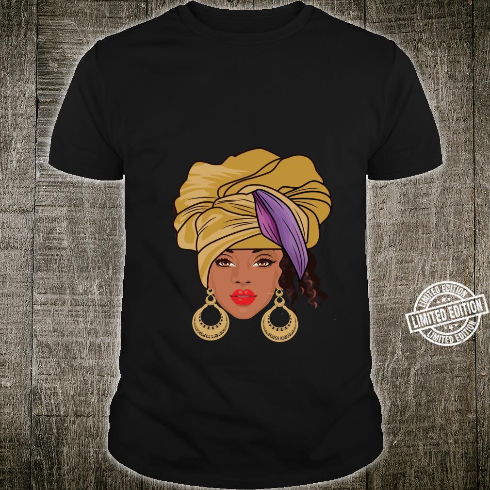 Black History Month Afroamerikanische Bekleidung AfroHaargesicht Shirt