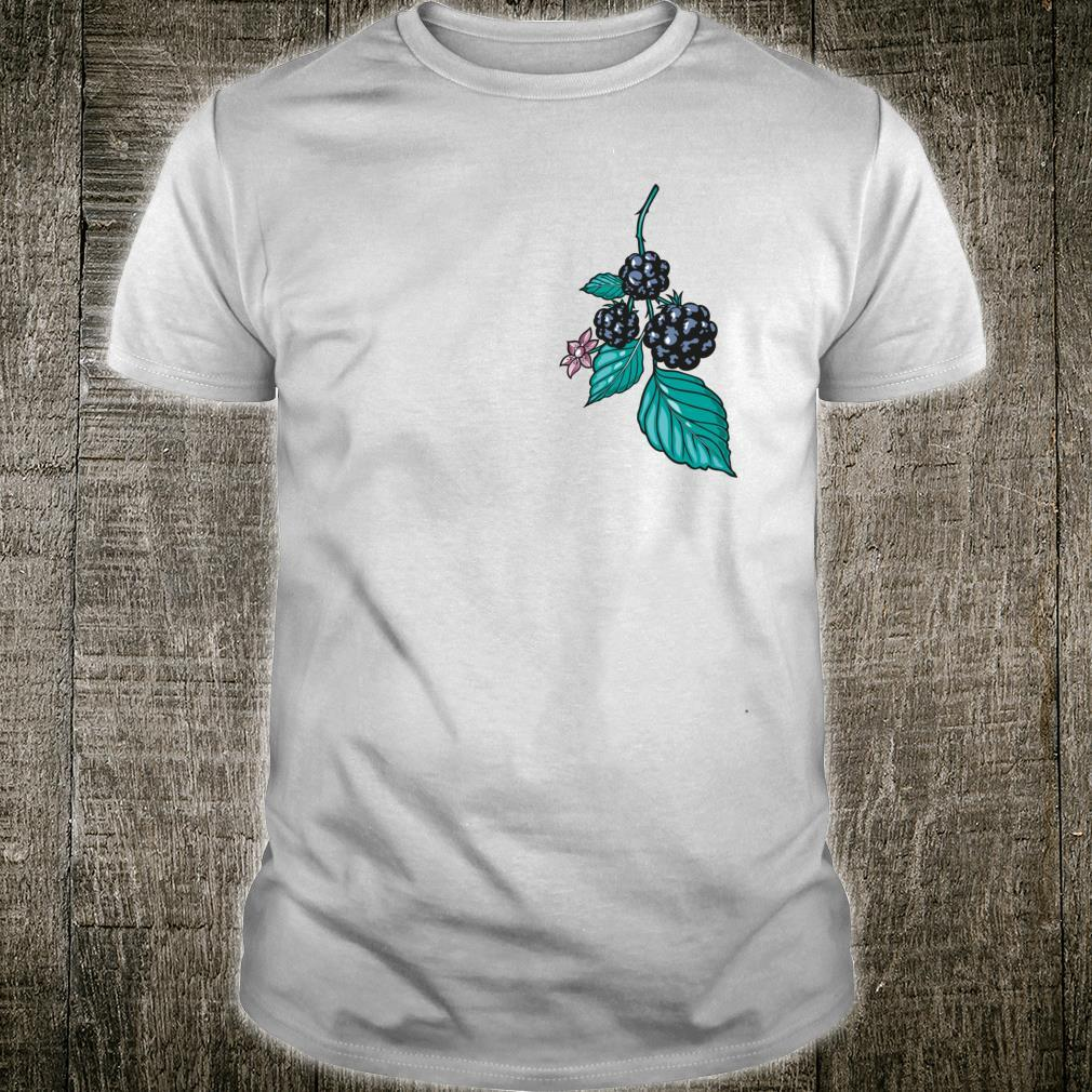 Blackberries with Leaves and Blossom Autumn Fruits Design Shirt