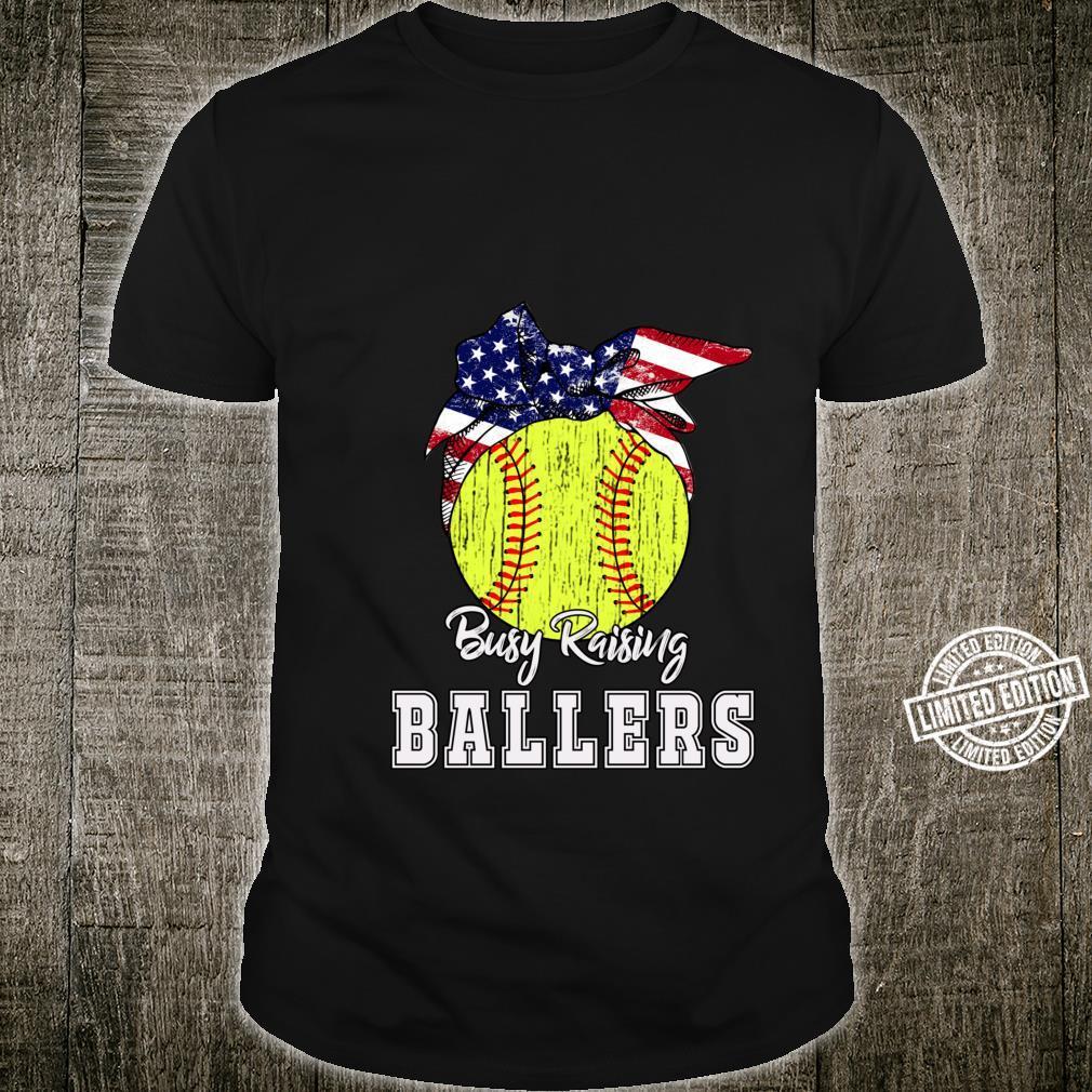 Busy Raising Ballers Softball Softball Mom Shirt