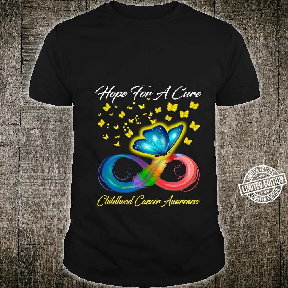 Butterfly Hope For A Cure Childhood Cancer Awareness Shirt