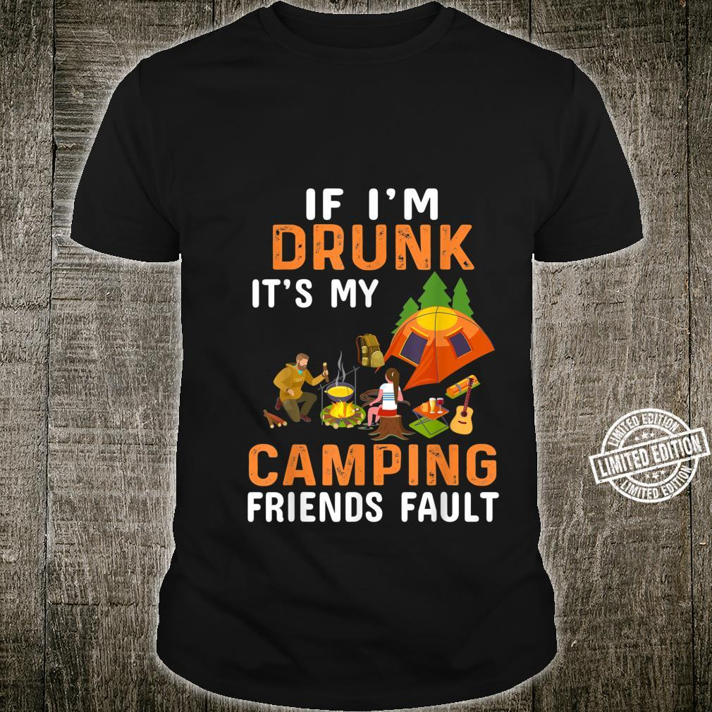 Camping Friends Retro Vintage Outdoor 70's 60's Outdoors Shirt