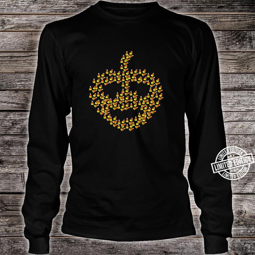 Candy corn in pumpkin shape Halloween Shirt long sleeved