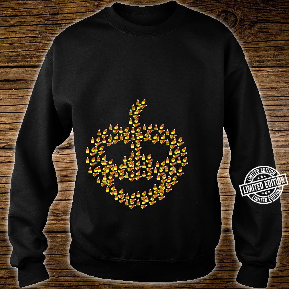 Candy corn in pumpkin shape Halloween Shirt sweater