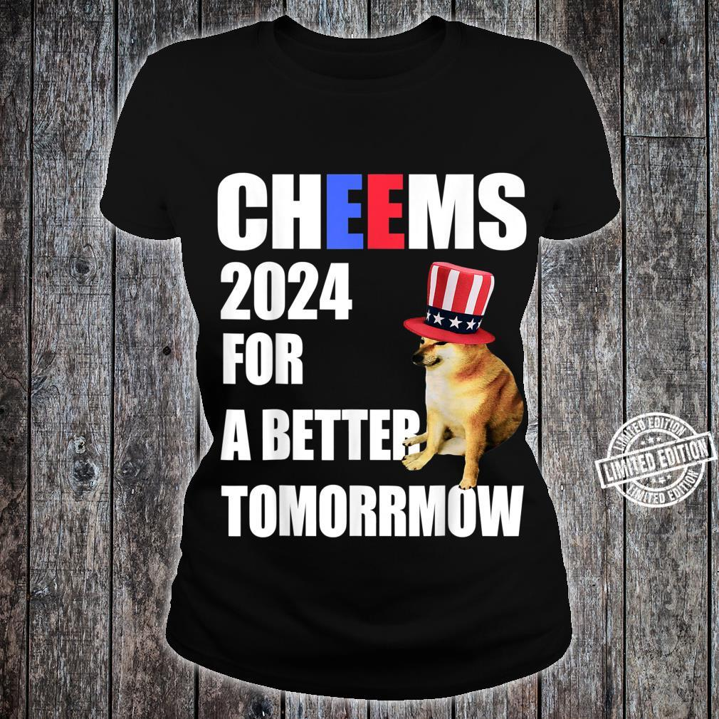 Cheems 2024 For A Better Tomorrmow Cheems Doge Meme Shirt ladies tee