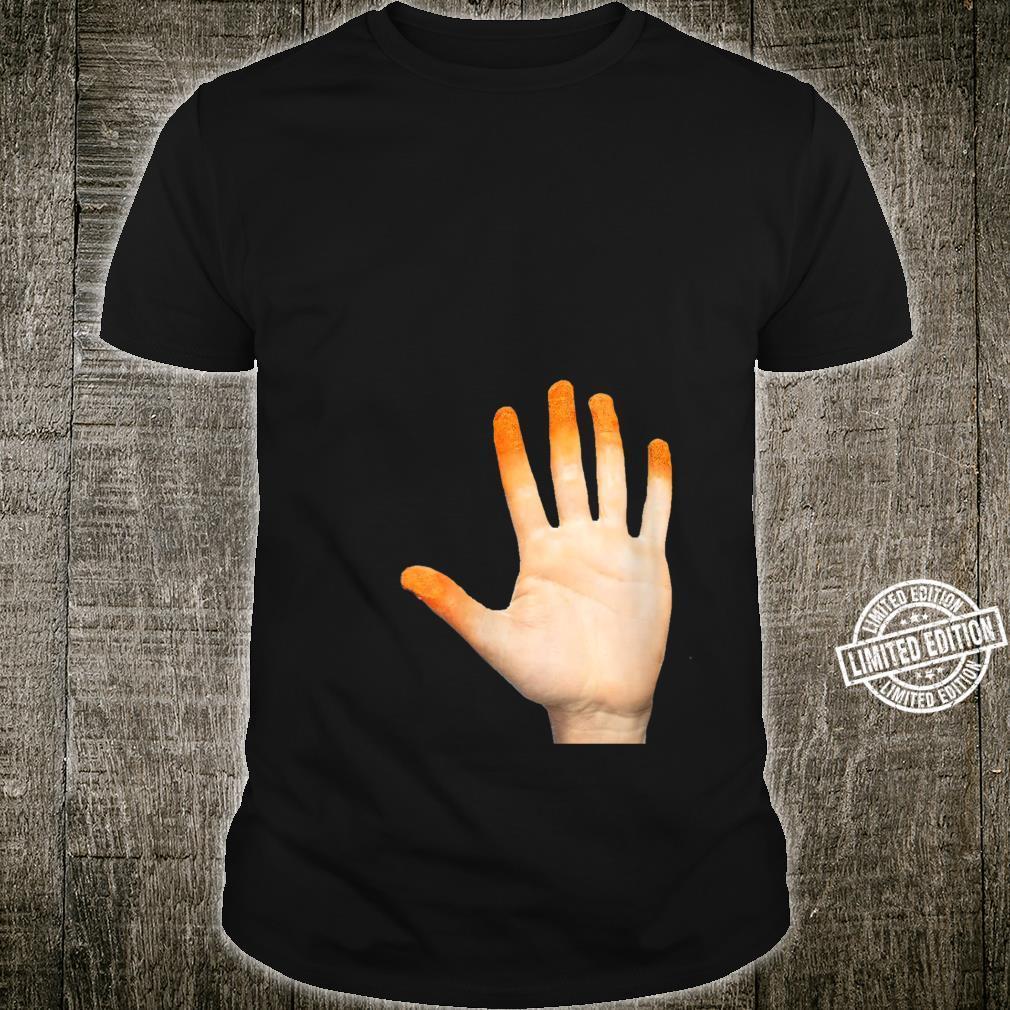 Cheese Puff Orange Fingers Shirt