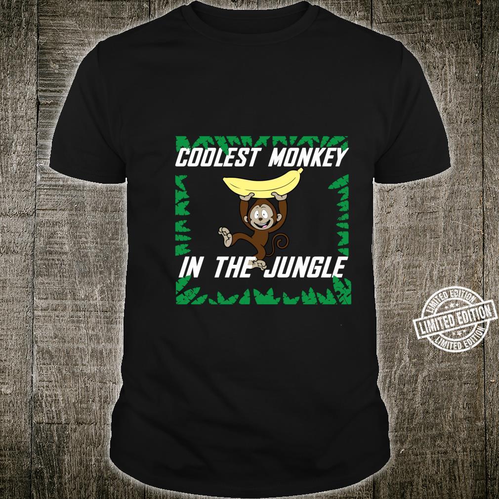 Coolest Monkey In The Jungle Cute Ape Boy Shirt