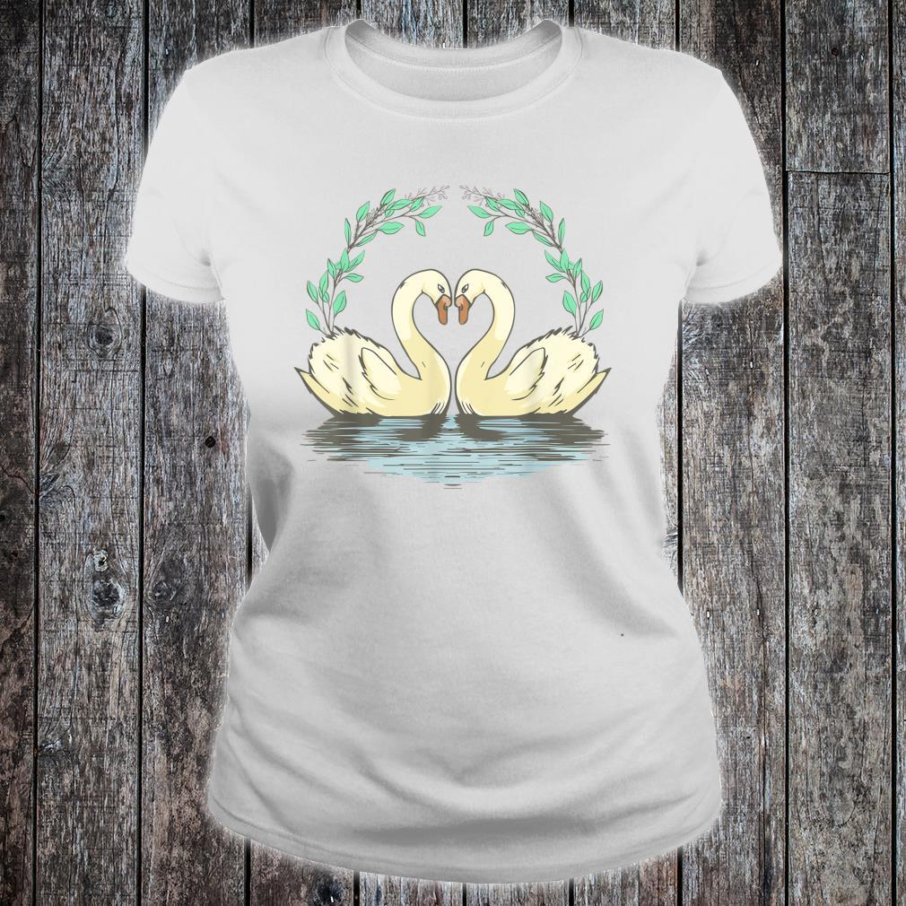 Cottagecore Aesthetic Duck Goose Geese Heart Shirt ladies tee