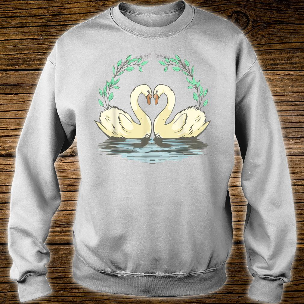 Cottagecore Aesthetic Duck Goose Geese Heart Shirt sweater