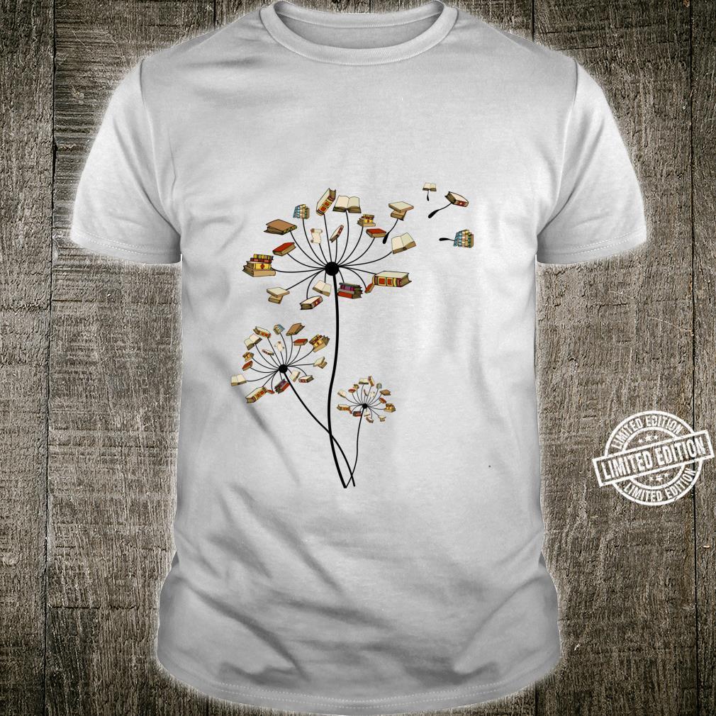 Cute Dandelion Books Flower Fly Reading Fan Club Shirt
