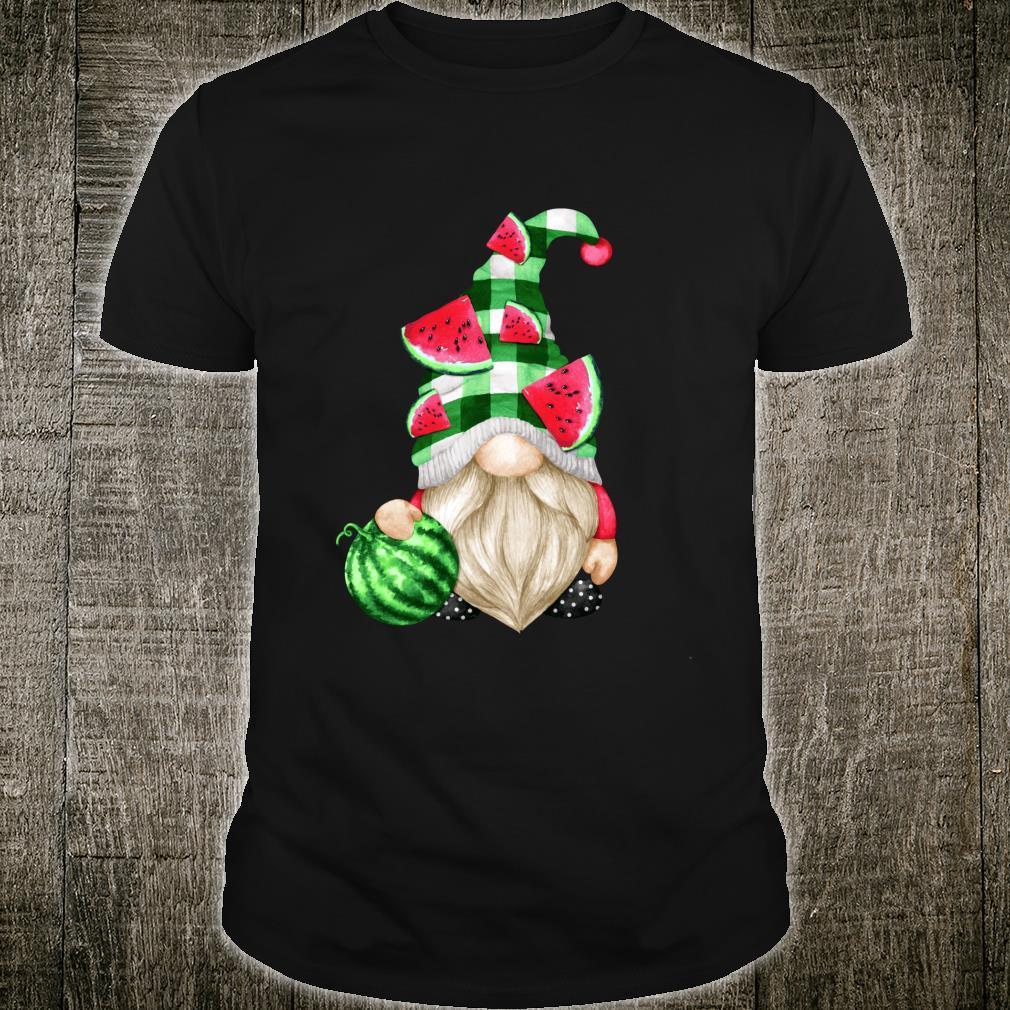 Cute Fruit For Xmas Matching Couple Watermelon Gnome Shirt