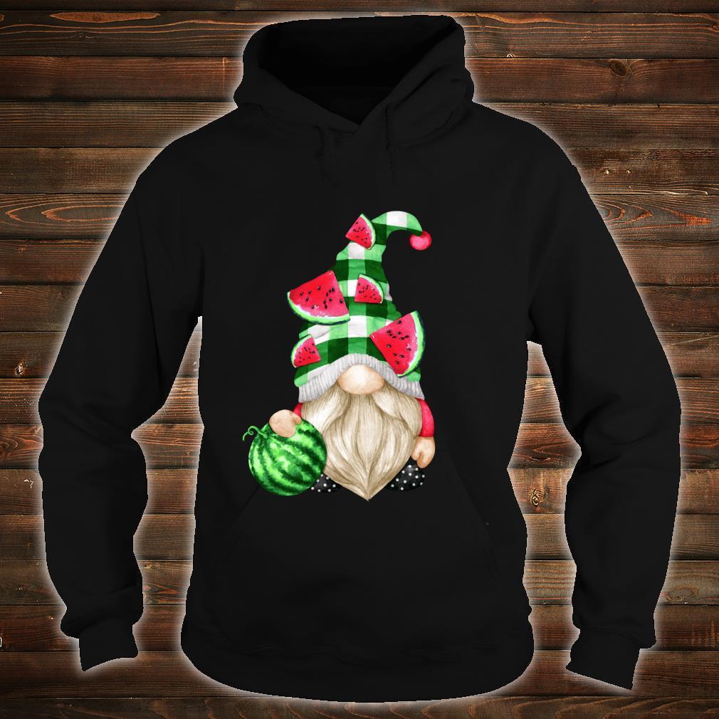 Cute Fruit For Xmas Matching Couple Watermelon Gnome Shirt hoodie