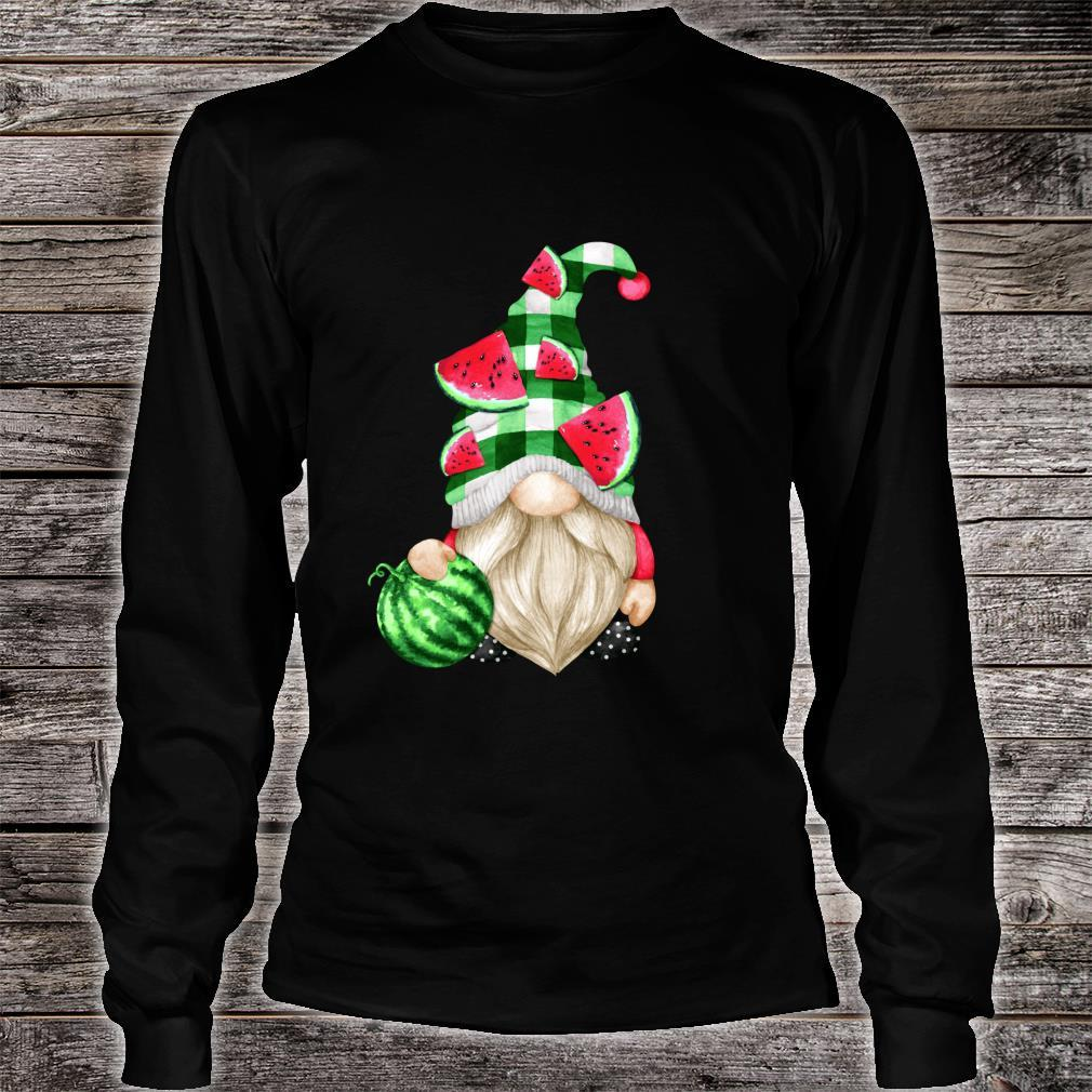 Cute Fruit For Xmas Matching Couple Watermelon Gnome Shirt long sleeved