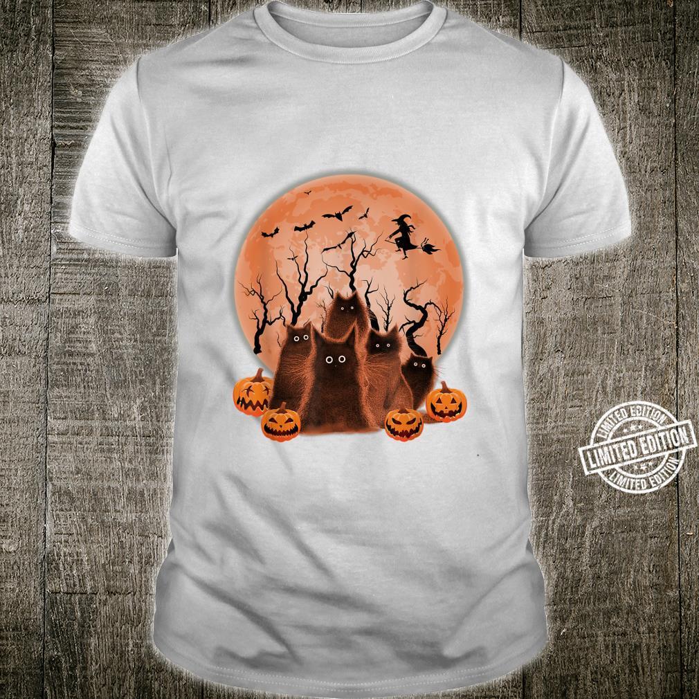 Cute Halloween Cat Pumpkin House for Cats Shirt