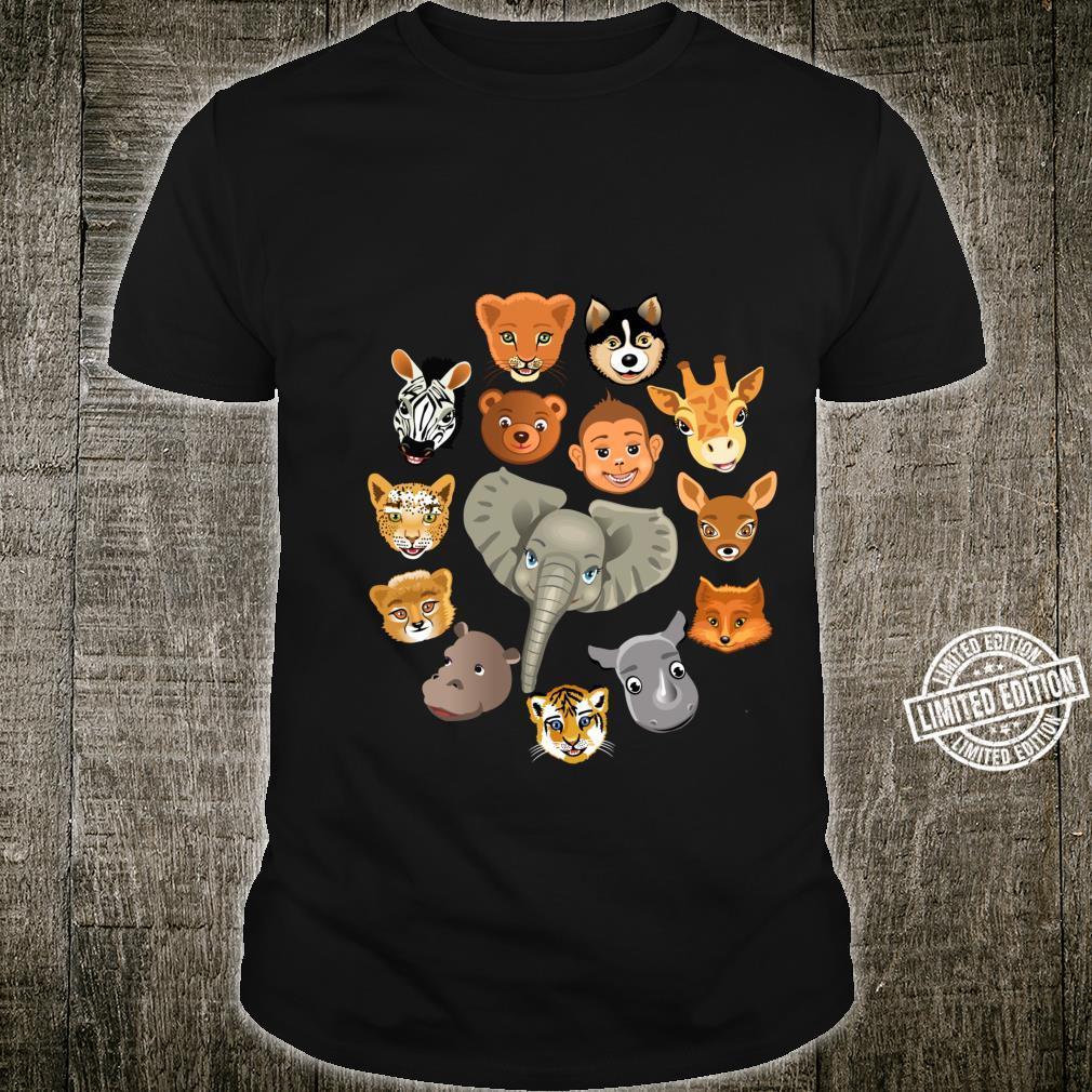 Cute Jungle Animals Theme Zoo Species Artwork Shirt