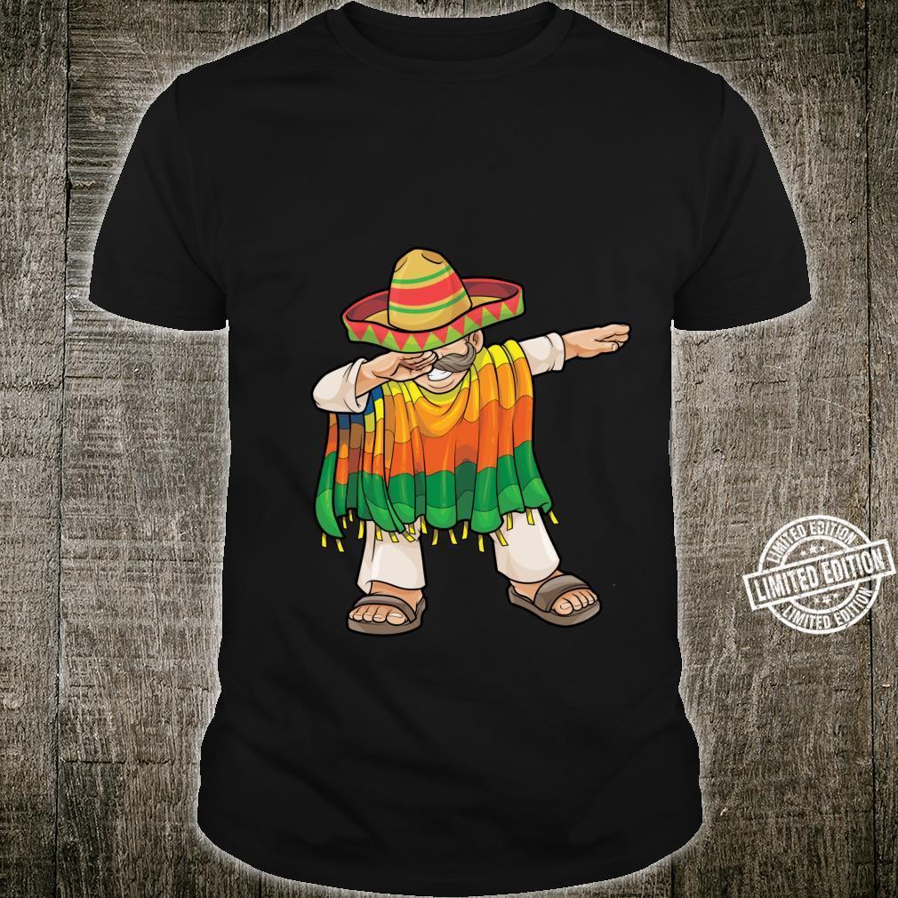 Dabbing Mexican Poncho Cinco de Mayo Sombrero Dab Shirt