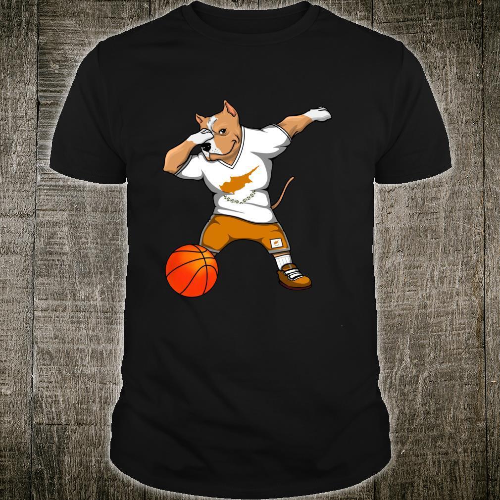 Dabbing Pit Bull Cyprus Basketball Fans Jersey Cypriot Sport Shirt