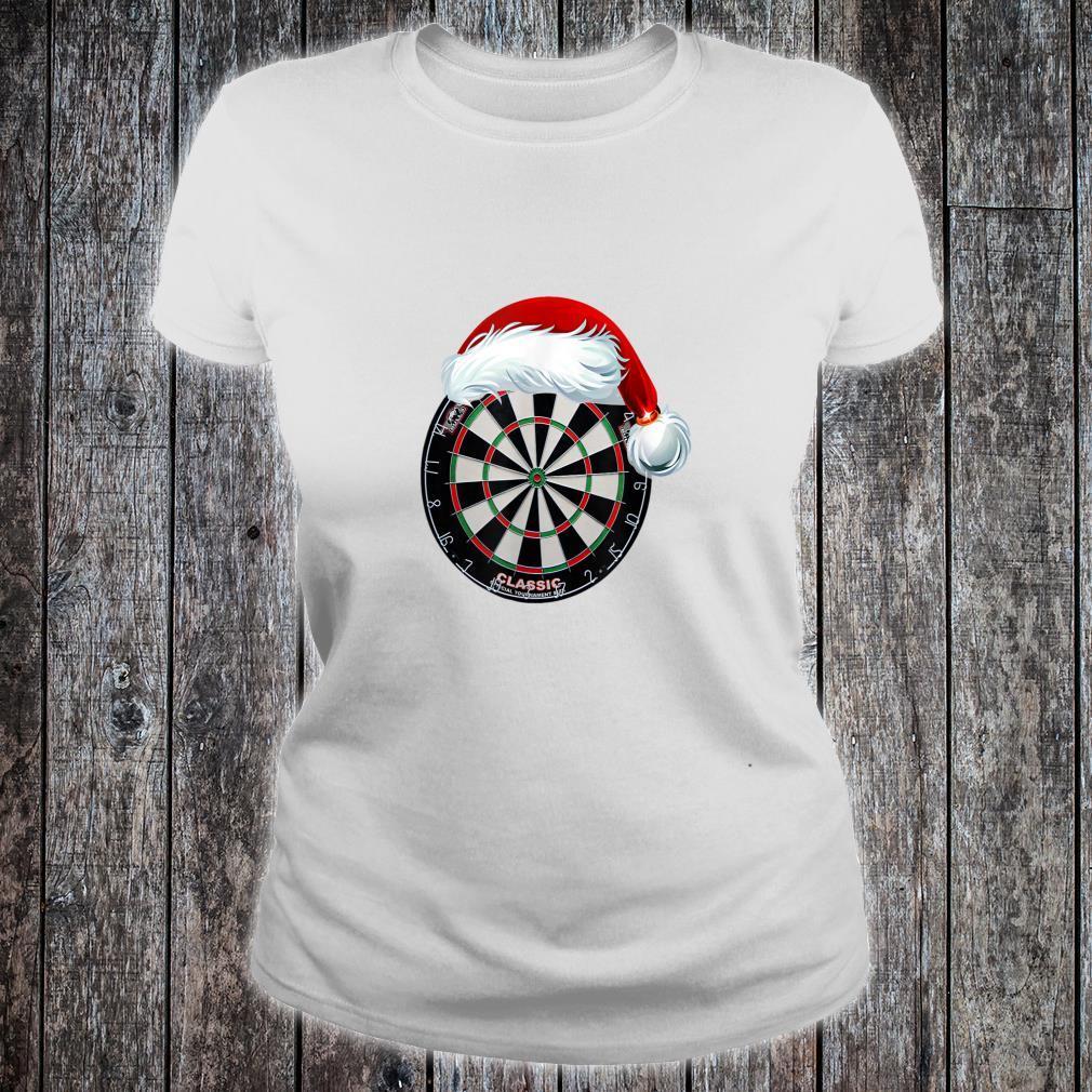 Dartboard Christmas Hat Shirt ladies tee