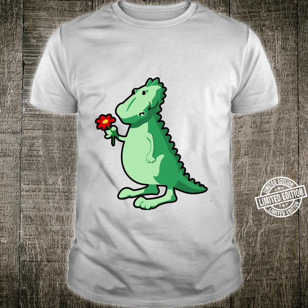 Dinosaur With Flower Shirt