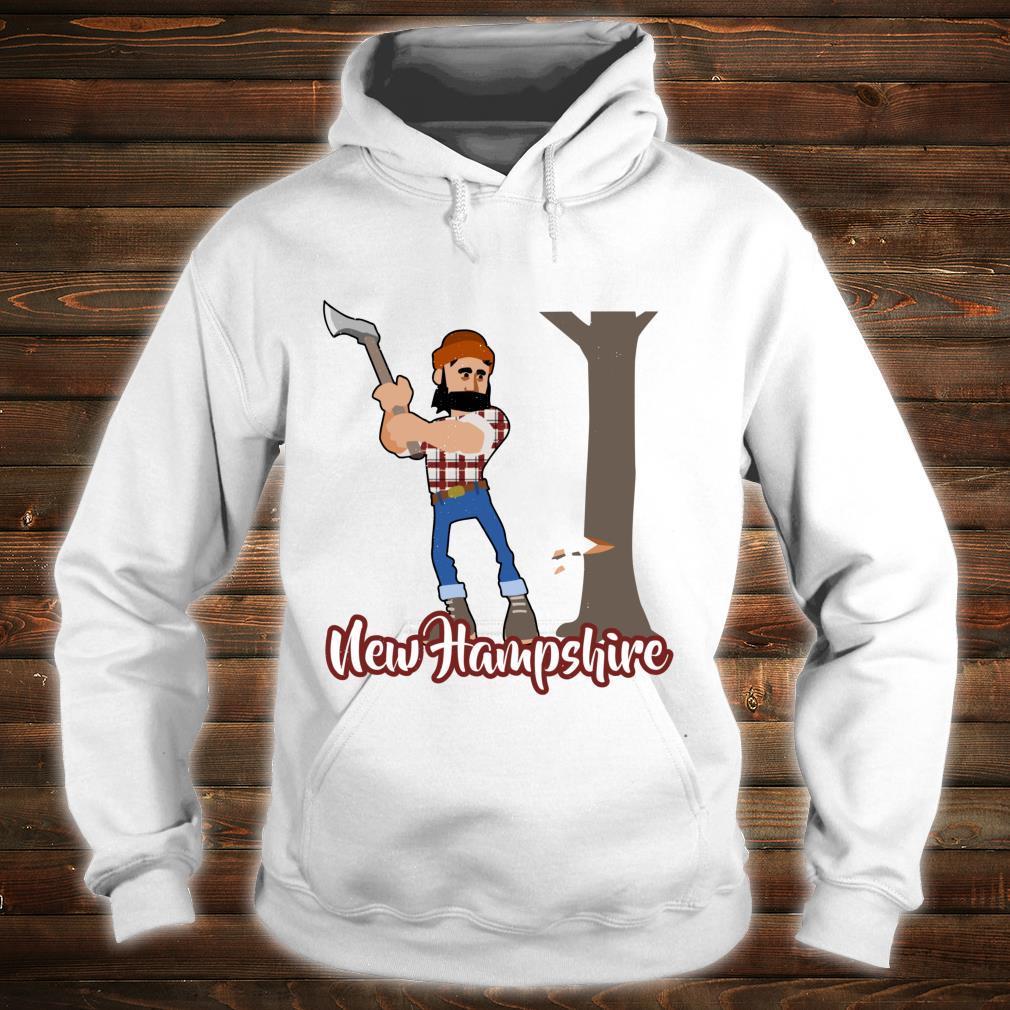 Distressed Visit New Hampshire Timber Woodsman Lumberjack Shirt hoodie